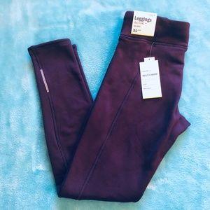 NWT Old Navy Go-Dry | Purple Fleece Lined Leggings